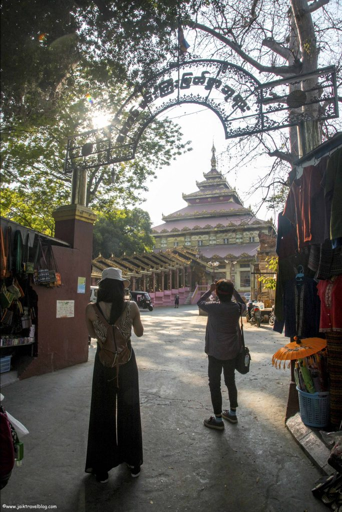 A temple near U Bein Bridge