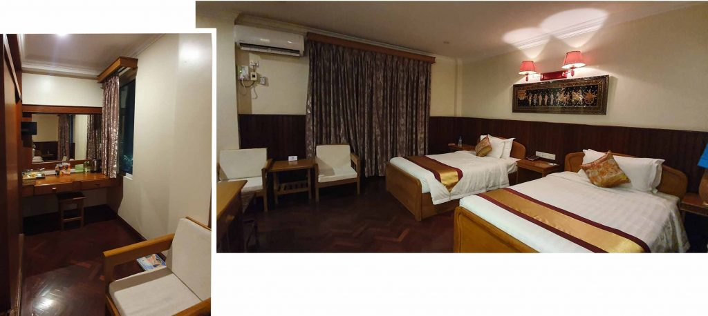 our double room at Ayarwaddy River View Hotel