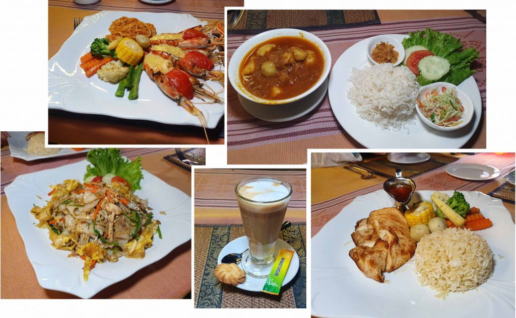Our first dinner at Ayarwaddy River View Hotel
