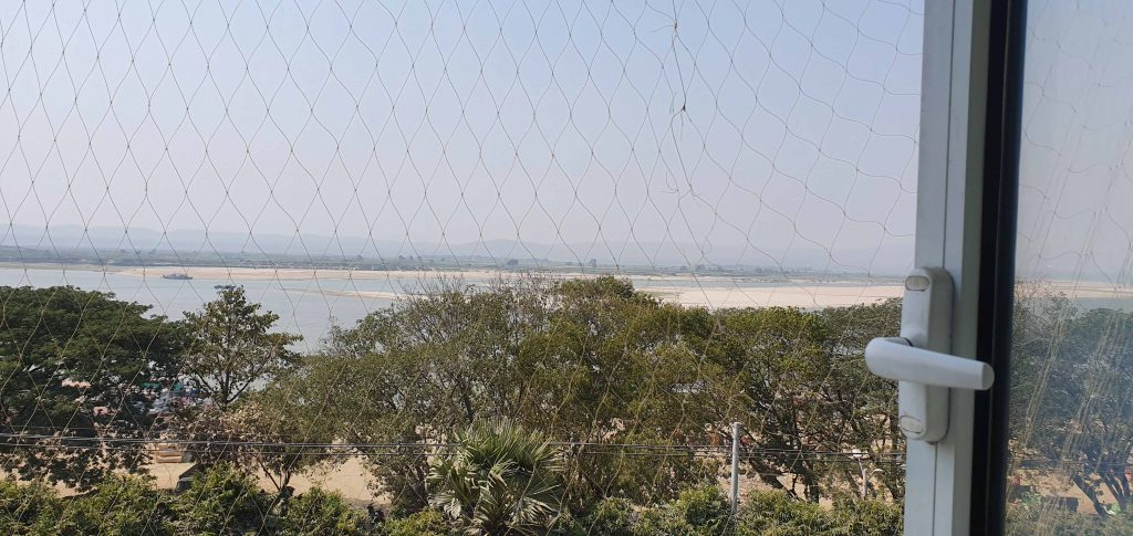 View of Ayarwaddy River from our hotel room