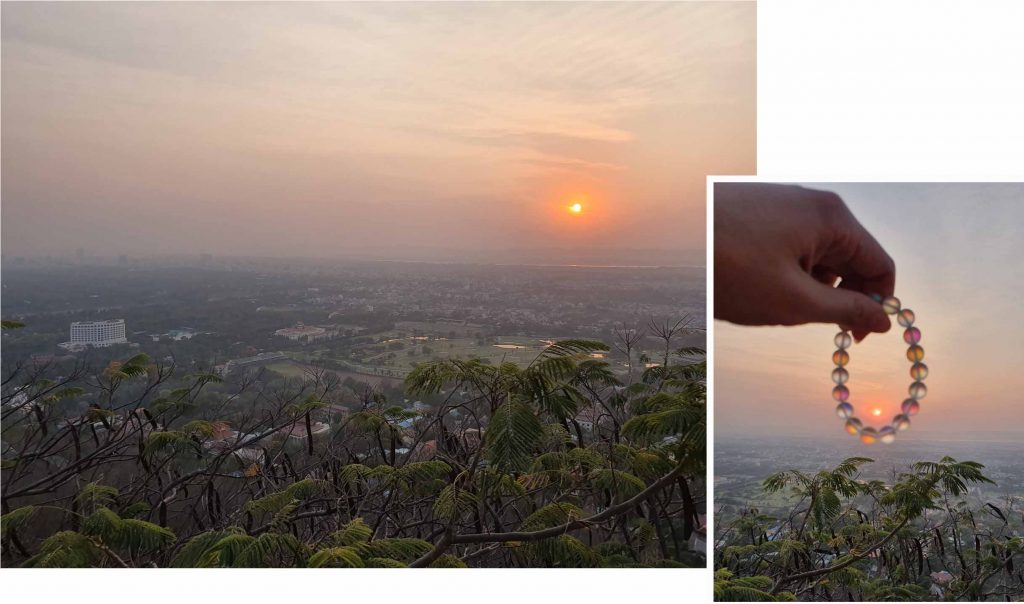 Sunset as viewed on Mandalay Hill