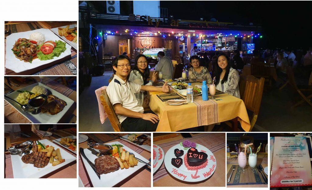 Our 2nd dinner at Ayarwaddy River View Hotel
