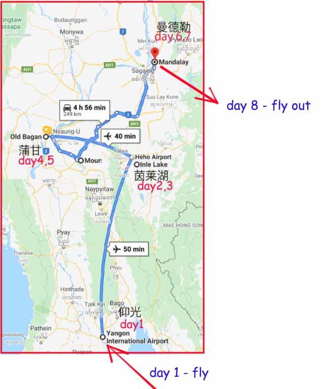 Eight days & seven nights in Myanmar