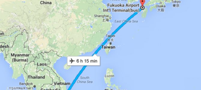 Flying Direct Singapore to Fukuoka