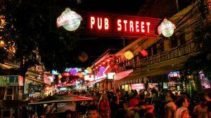Night scene at PUB street